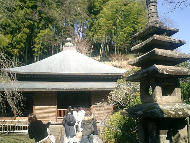 30)東慶寺、本堂。昭和10年建立。背後は竹林.jpg